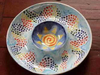 Rainbow Serpent Platter - Fired