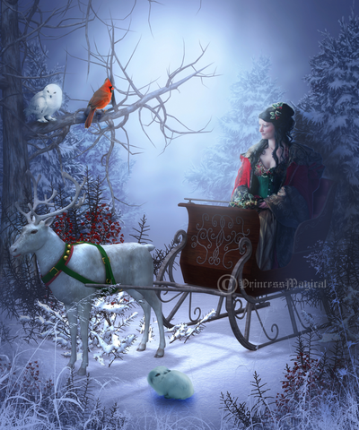 A sleigh ride with friends by PrincessMagical