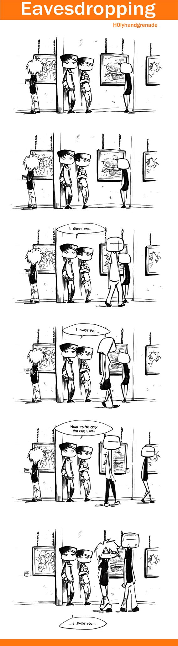 Eavesdropping - Shoot by H0lyhandgrenade
