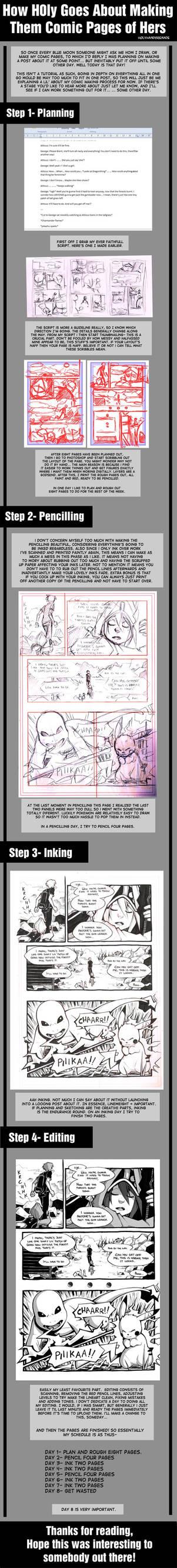 H0ly's Comic Making Process