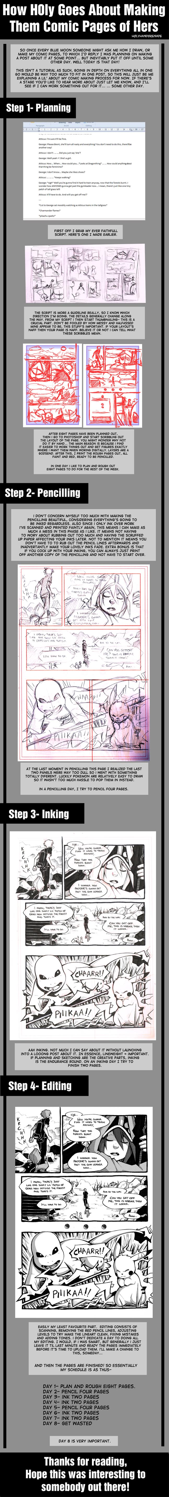 H0ly's Comic Making Process by H0lyhandgrenade