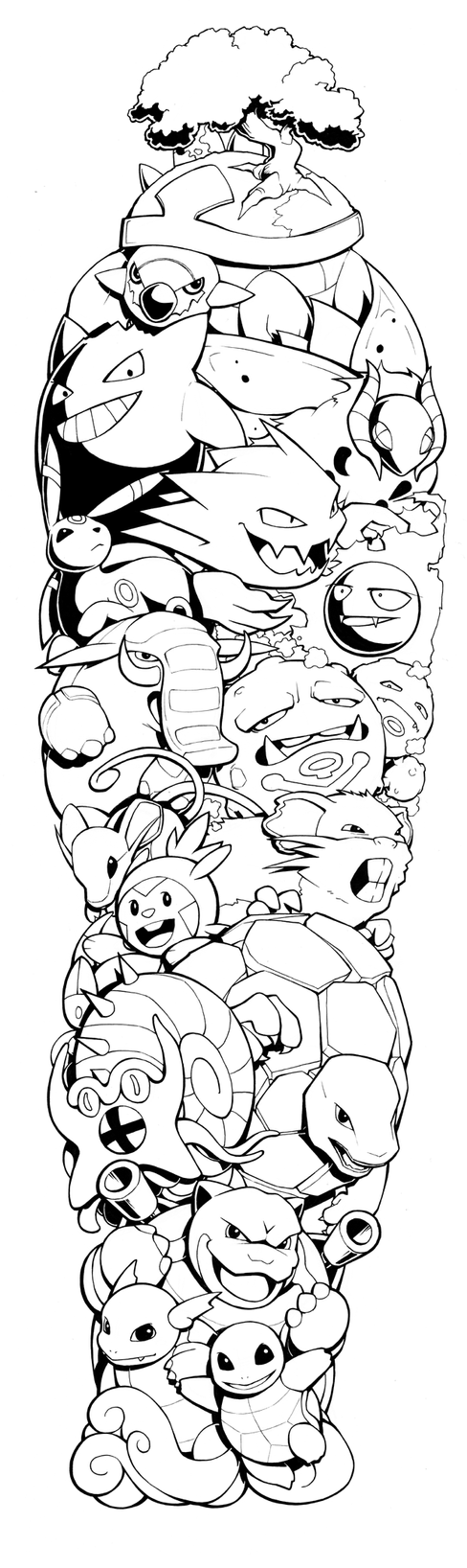 Pokemon Sleeve by H0lyhandgrenade