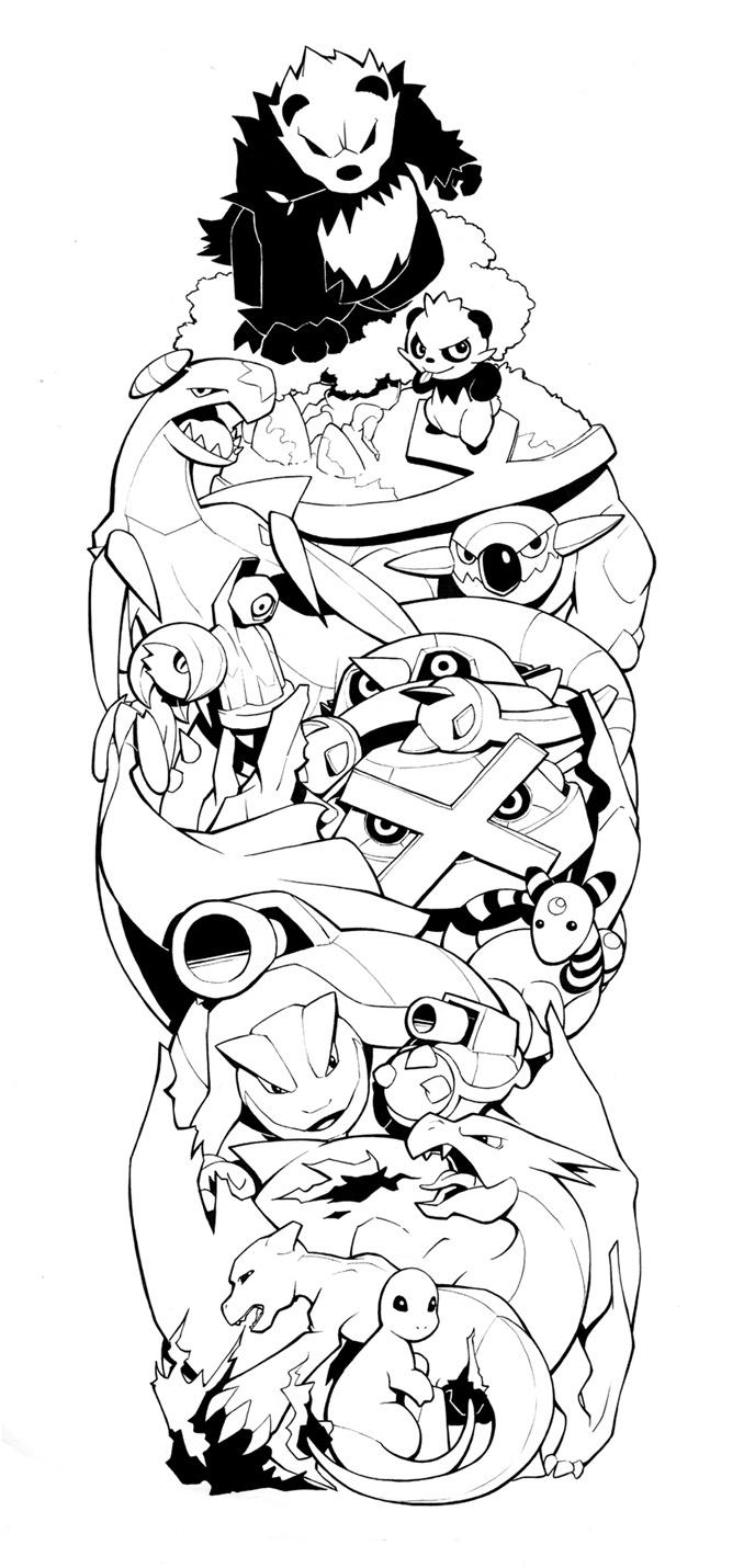 Line Drawing Tattoo Sleeve : Pokemon sleeve by h lyhandgrenade on deviantart