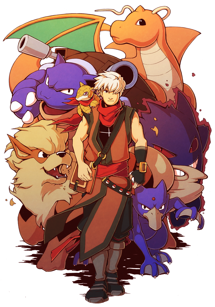 Pokemon Team Commission by H0lyhandgrenade