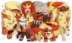 Pokemon- Fire Canines