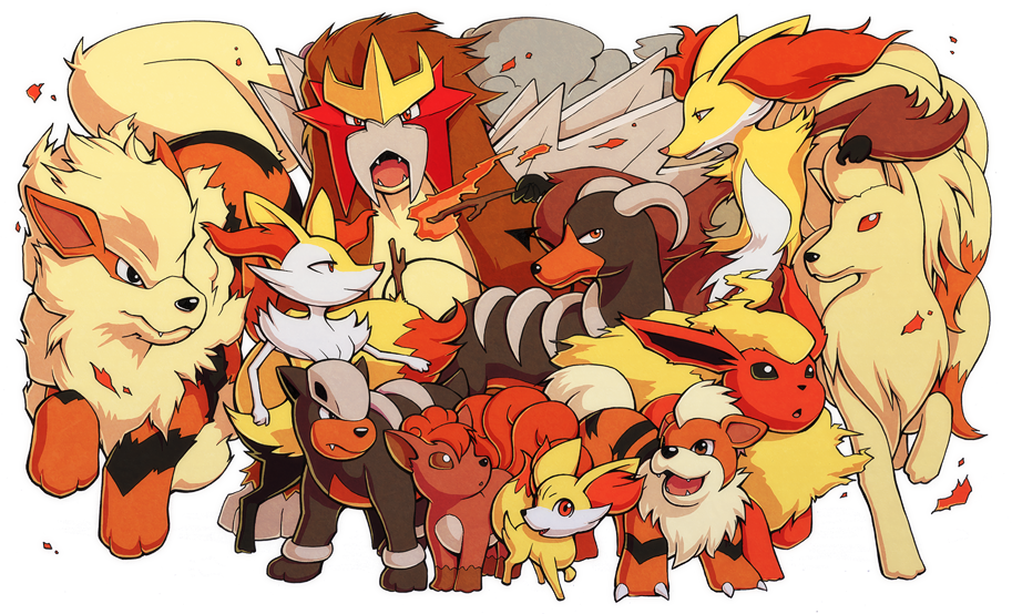 Pokemon- Fire Canines by H0lyhandgrenade