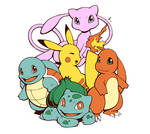 Starters, Pika and Mew