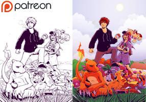 Mokepon Chapter 11 Colouring Process
