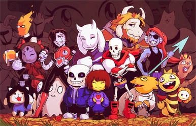 Undertale- Friends worth not fighting for by H0lyhandgrenade