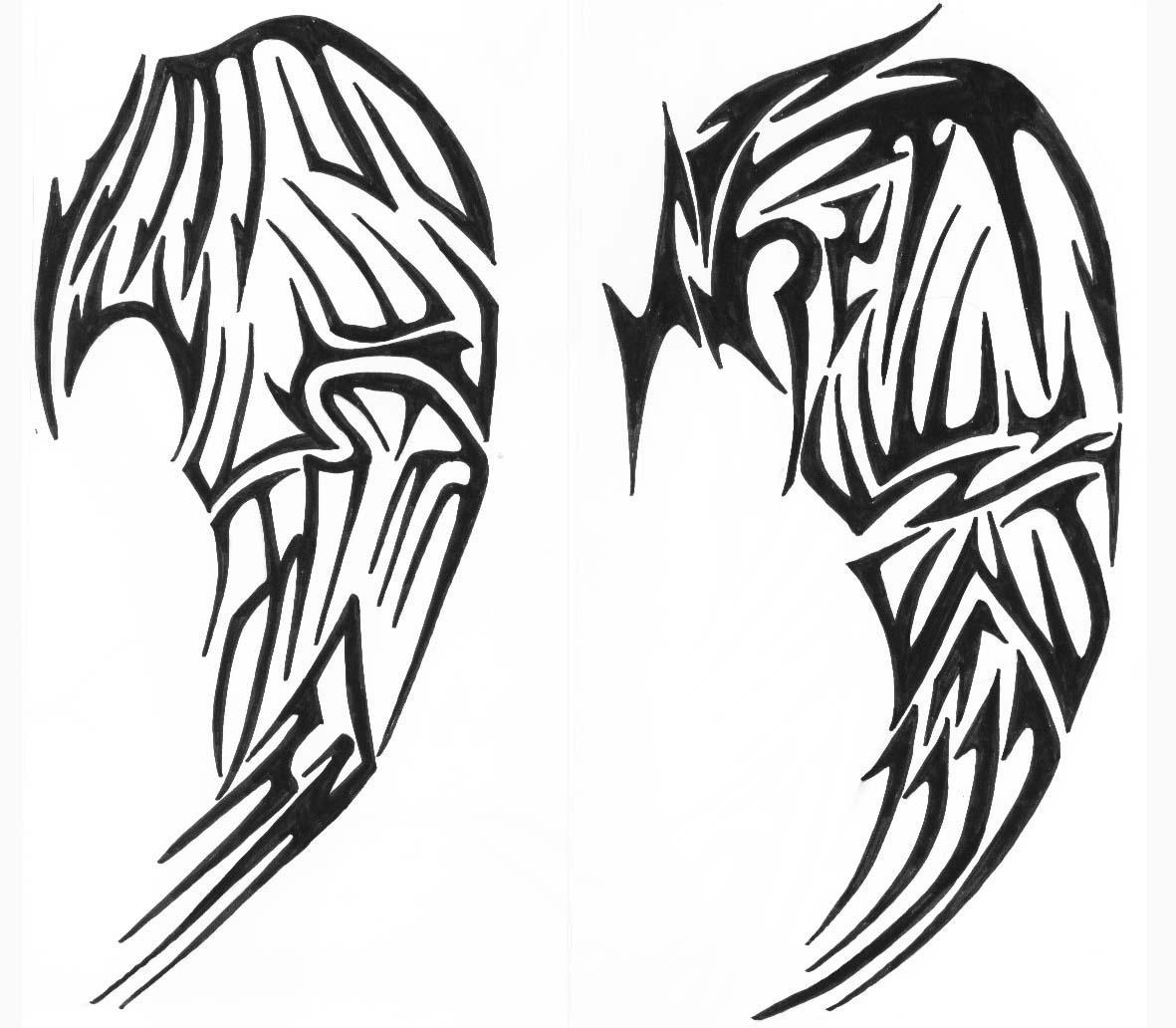 tribal wings by vexed-jesus on DeviantArt