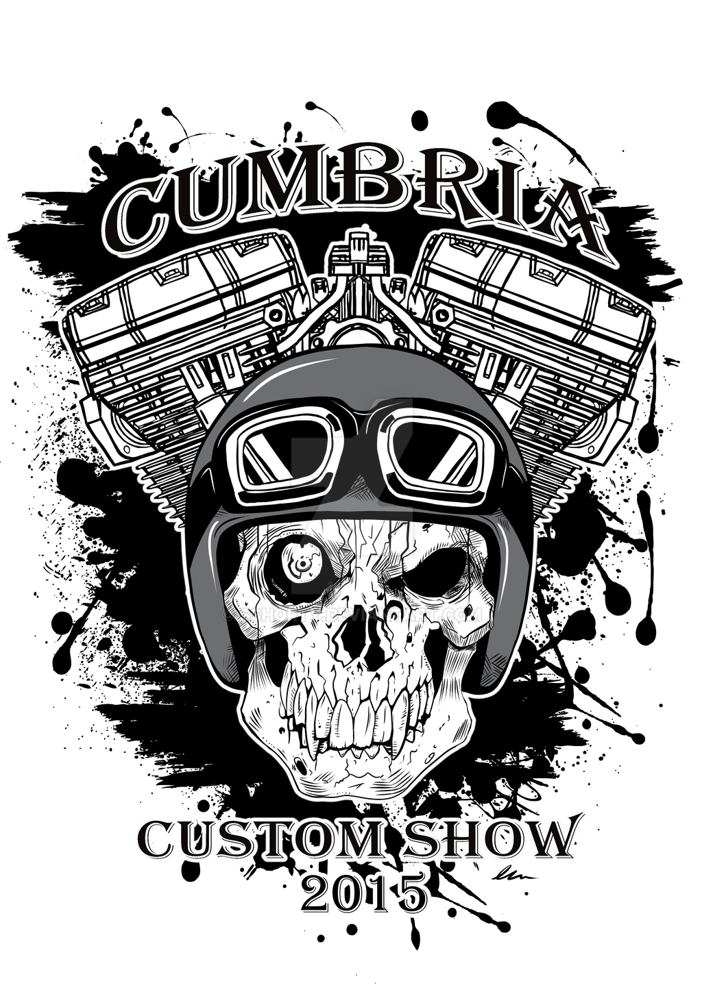 cumbria custom bike show t shirt design 2015 by sshorty on