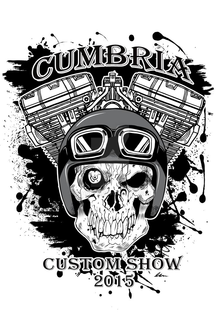 Design t shirt png - Cumbria Custom Bike Show T Shirt Design 2015 By Sshorty
