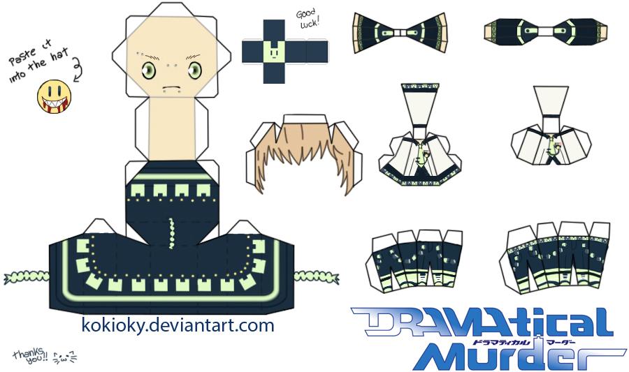 Noiz Papercraft (DRAMAtical murder) (DMMD) by kokioky