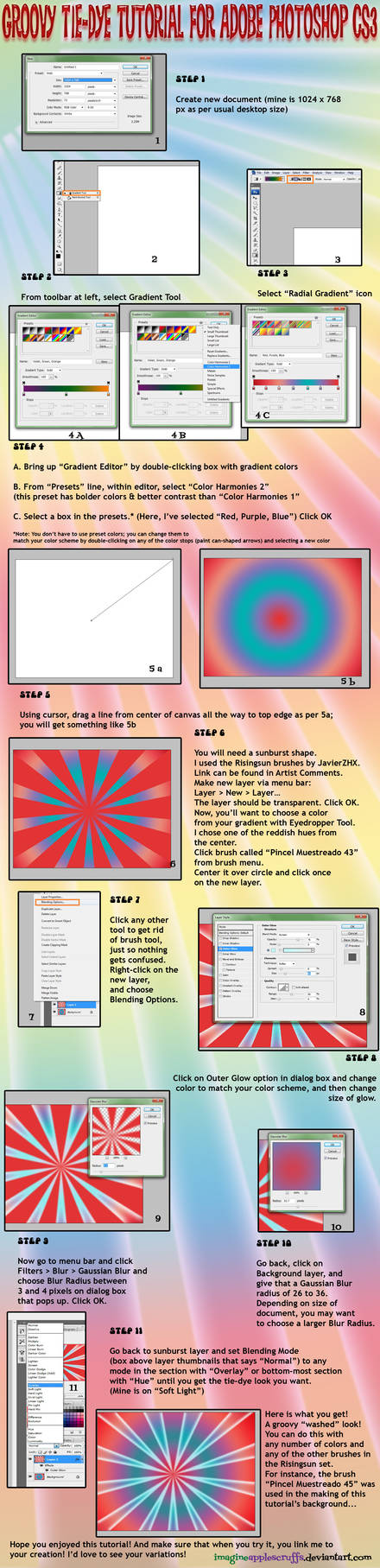 Photoshop Tie-Dye Tutorial by Sagittarianism