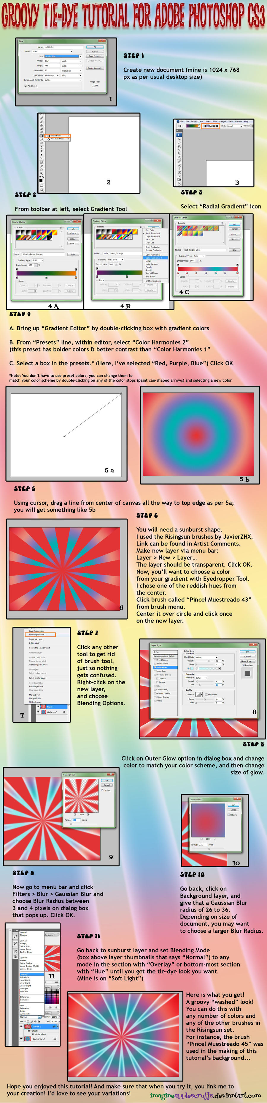 Photoshop tie dye tutorial by sagittarianism on deviantart photoshop tie dye tutorial by sagittarianism baditri Gallery
