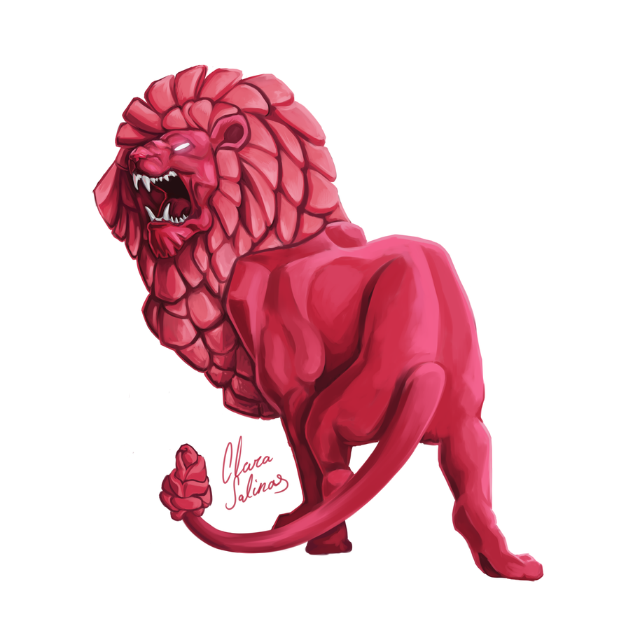 I just love Lion, so here it is a semi-realistic portrait of him. I tried to make his maen to look like petals for some reason, but at the end I think it looks cool. If you like this picture ...