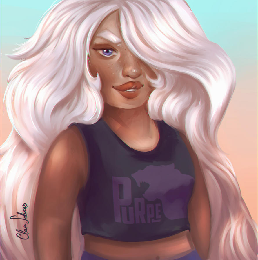 Human Amethyst (?). I'm so proud of this painting, omg... I know it isn't perfect but I think I'm finally improving and I feel I'm near to find my own style. Hope you like it! You can buy this pain...
