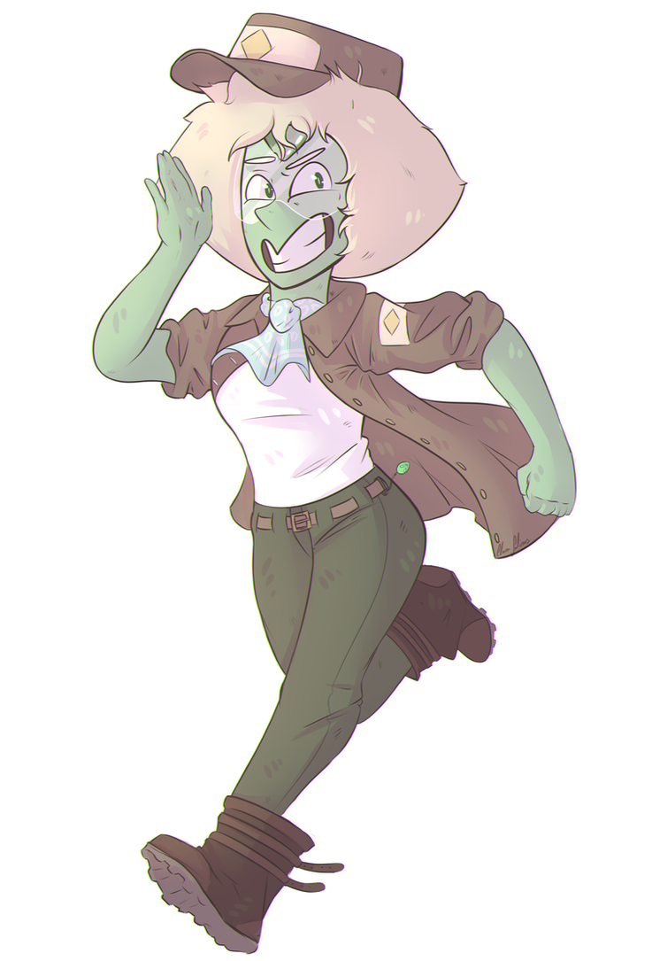 Some Peridot dressed up as Percy, as the obssesed fan she is. She reminds me of someone... *cof cof* She also has Paulette's kerchief, but shhh Process video on youtube: www.youtube.com/w...