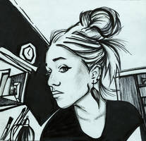 Sketch a self-portrait by KlementinaMoonlight