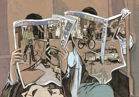 Readers of Newspapers. by KlementinaMoonlight