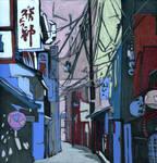 Quiet street in Japan.