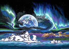 Planet of eternal winter. by KlementinaMoonlight