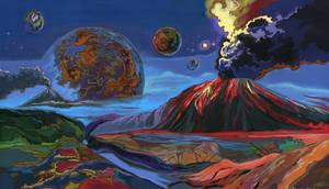 Planet of volcanoes.