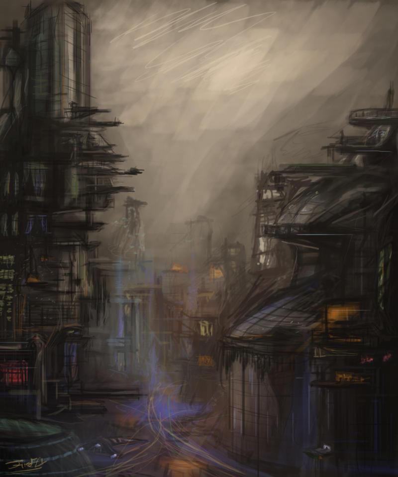 Futuristic city by firefly2347