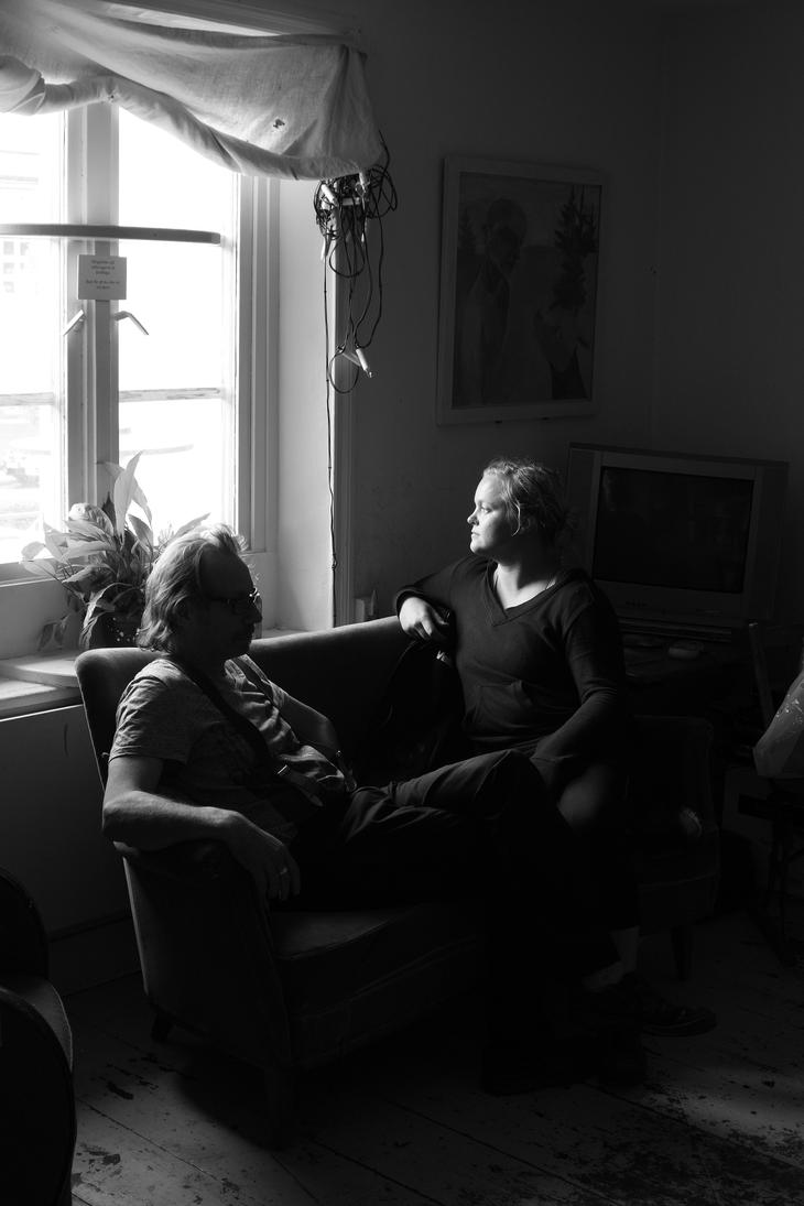 Artist Couple James and Linda Bates by PEN-at-Work