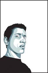 Blue Self Portrait by ricosuave413