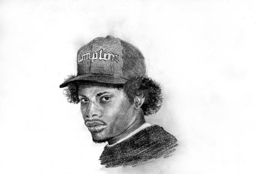 Eazy-E portrait by TheSerialDrawer