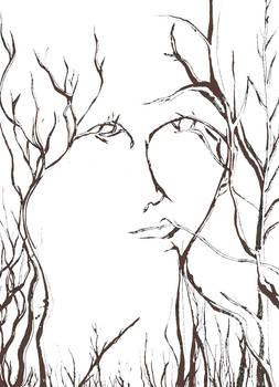 Lady in the Trees