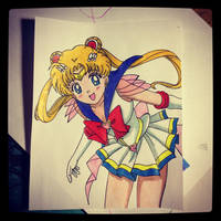 Sailor Moon by Karina-o-e