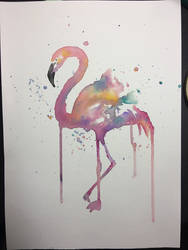 Birthday Flamingo by Karina-o-e