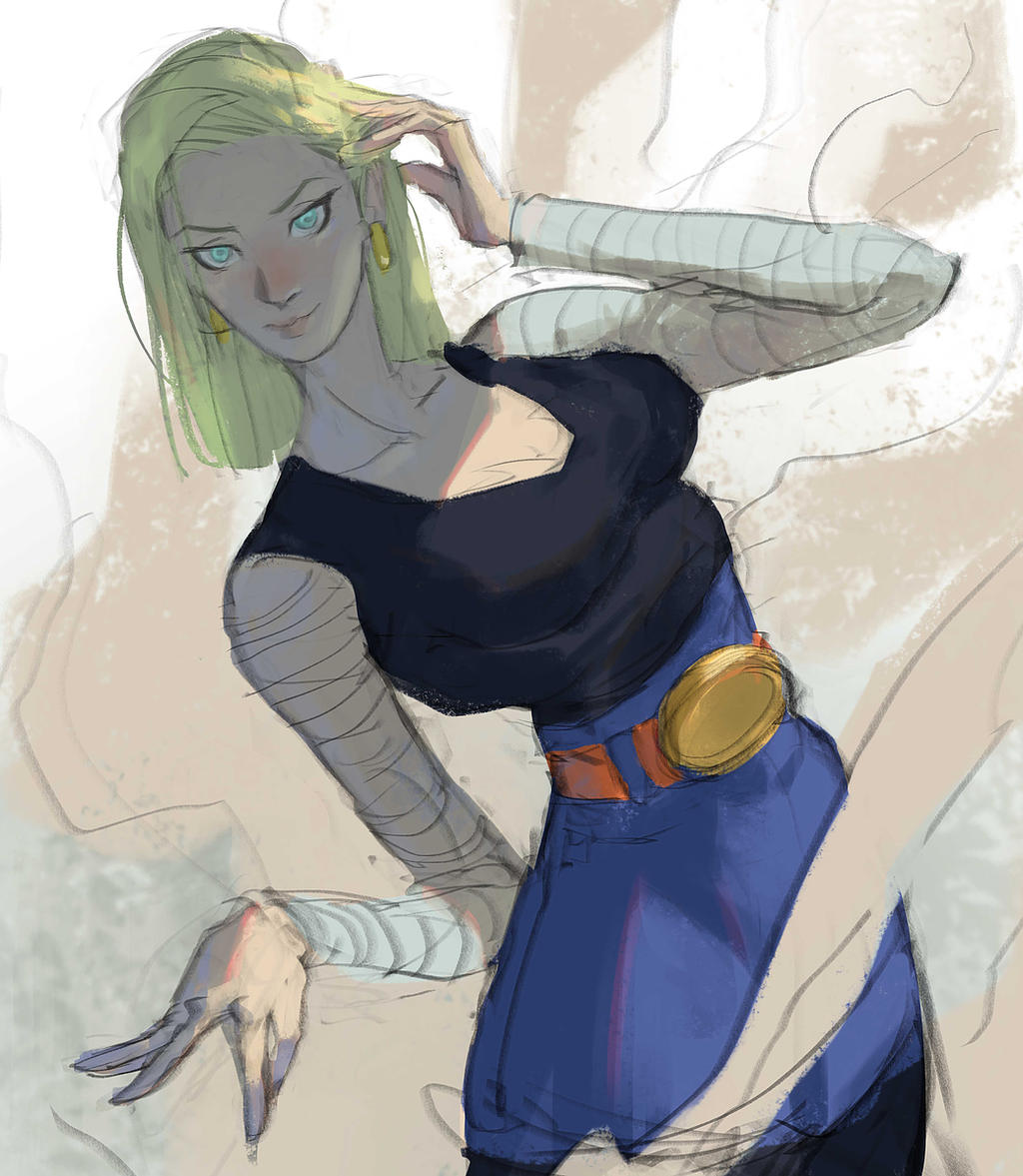 Android 18 And Tail Deviantart: Android 18 By Ramonn90 On DeviantArt