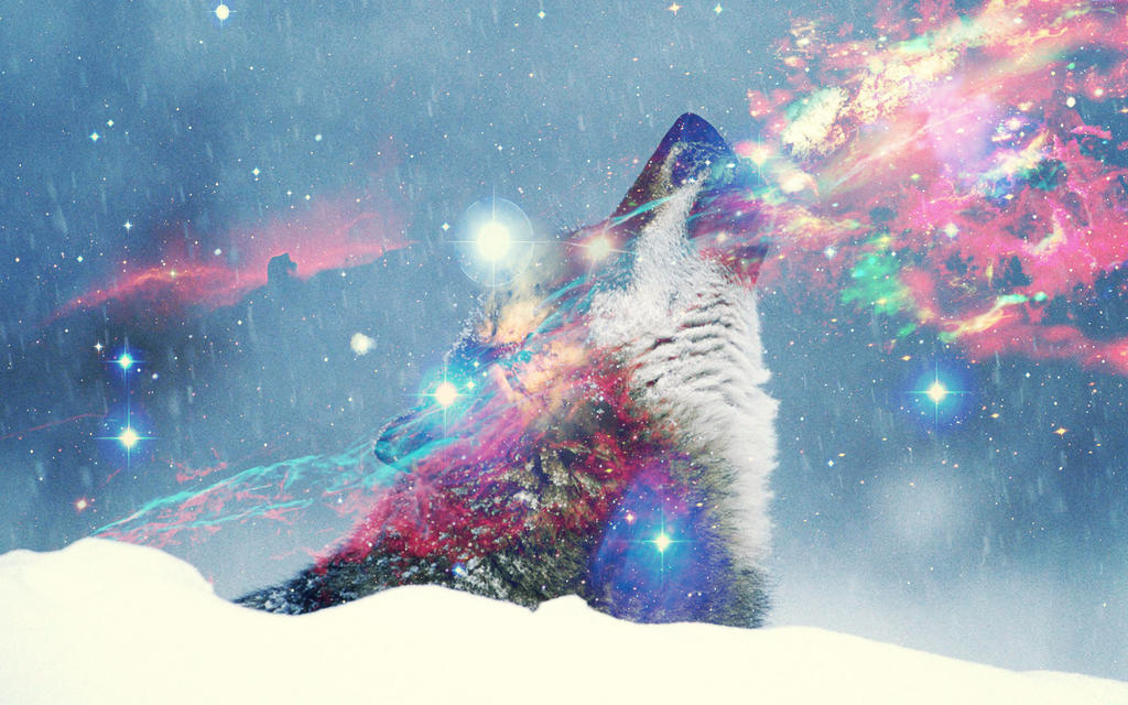 Cosmic Wolf Hipster By Jedace1