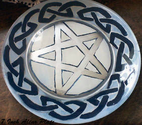 7in Pentagram Altar Plate by aheria