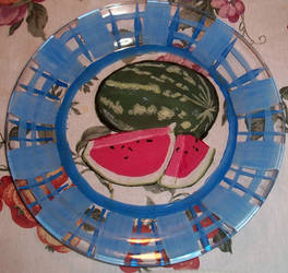 10in Watermelon Plate WIP by aheria