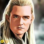 Legolas watercolor