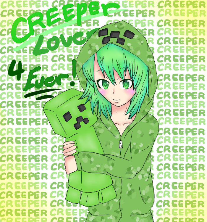 Minecraft cute creeper pictures google search see they - Creeper anime girl ...