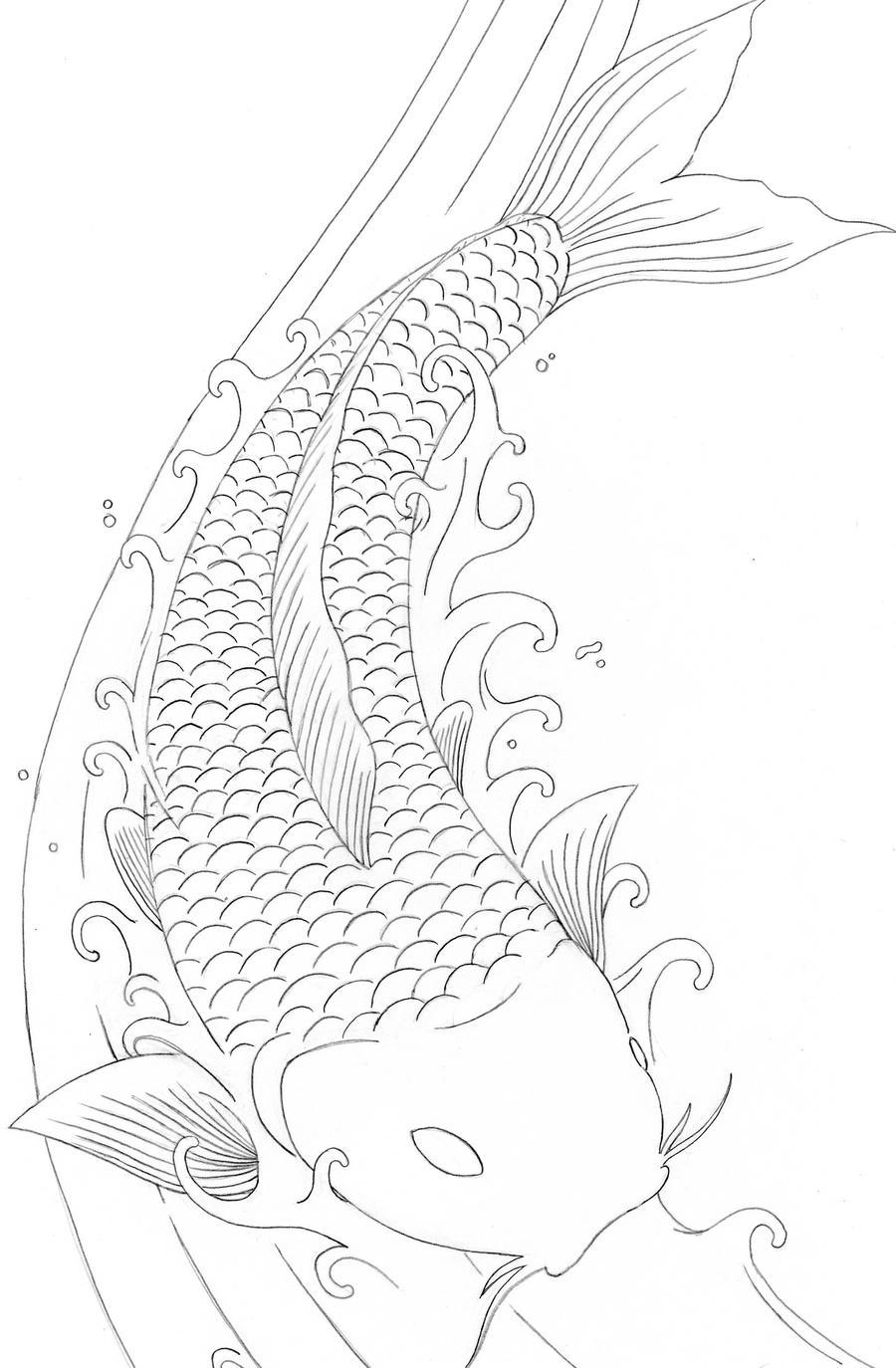 Koi Fish Dragon Art Koi Fish by Element Dragon