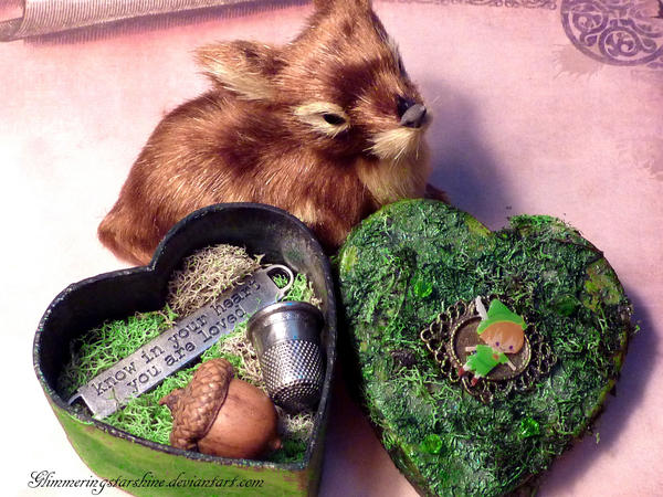 Peter Pan Kisses Trinket Box by GlimmeringStarshine