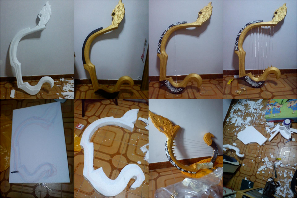 how to make a simple harp