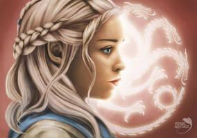 Daenerys Targaryen - Fire and Blood by Vogelgestalt