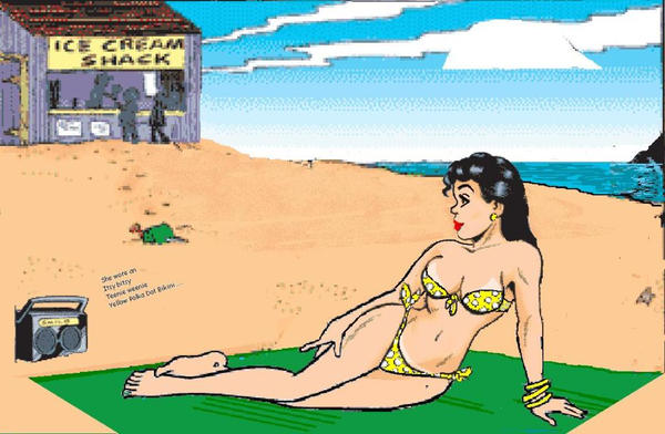 Aunt Fritzi on the Beach by therusk