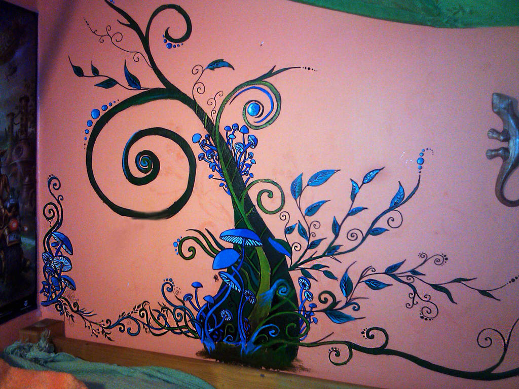 Wall Painting Glow In The Dark By Rafkette On Deviantart .
