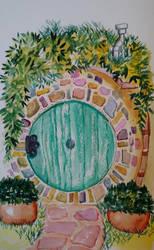Hobbit door by Jerzee-Girl