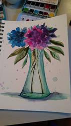 Green vase by Jerzee-Girl