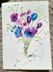 Flowery notecard by Jerzee-Girl