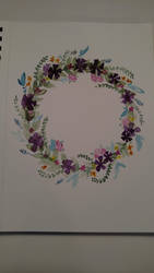 Floral wreath by Jerzee-Girl